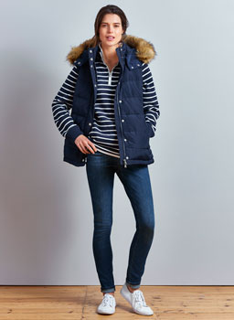 Down Gilet in Navy