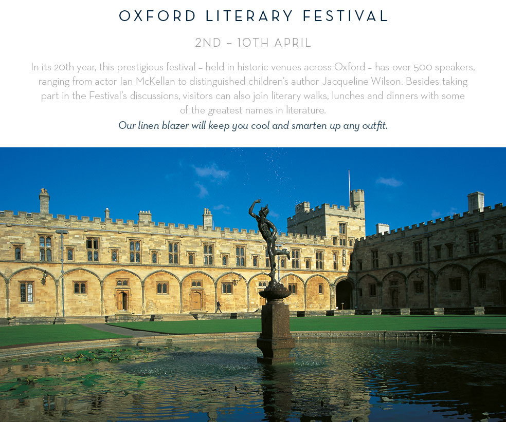 Oxford Literary Festival: 2nd - 10th April