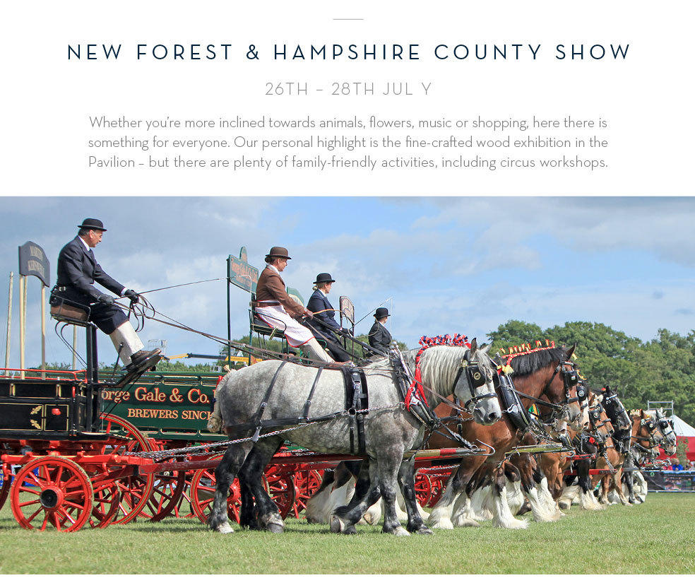 New Forest & Hampshire County Show 26th - 28th July