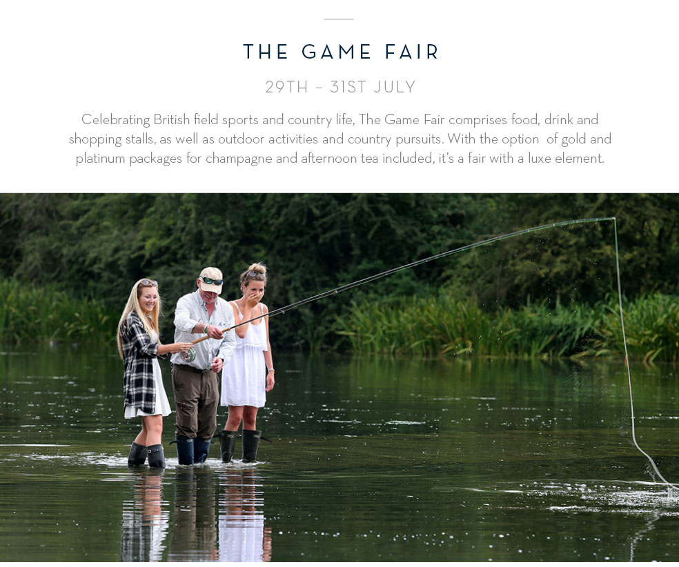 The Game Fair 29th - 31st July