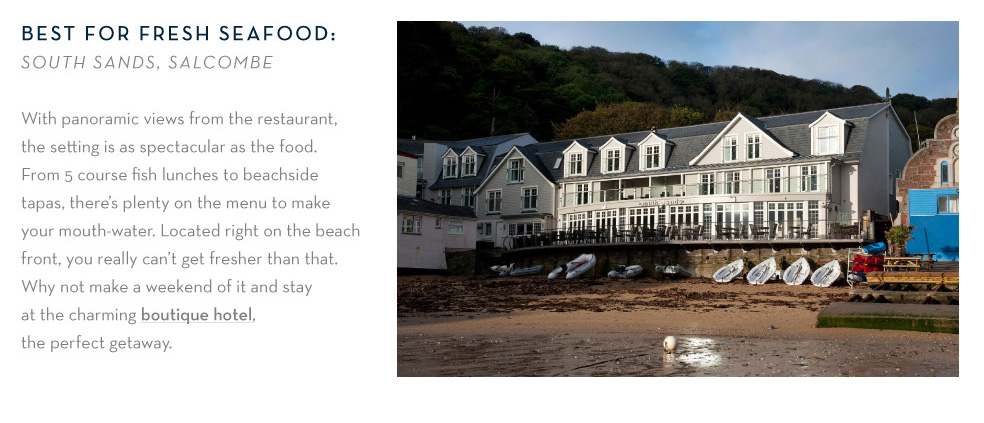 Best for fresh seafood: South Sands, Salcombe