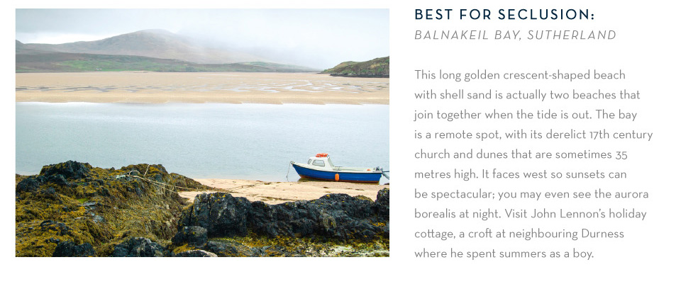 Best for seclusion: Balnakeil Bay, Sutherland
