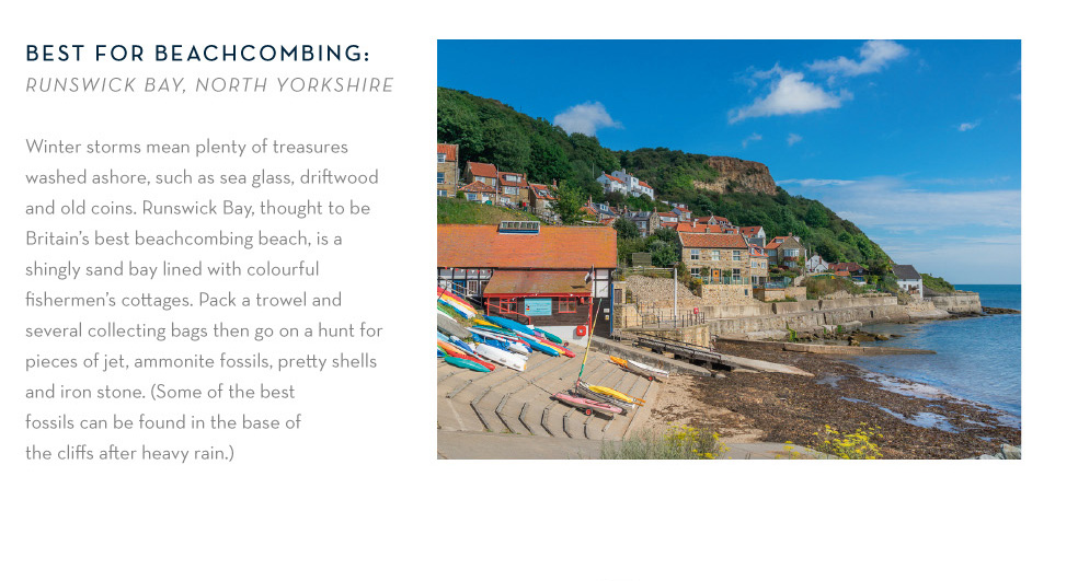 Best for beachcoming: Runswick Bay, North Yorkshire