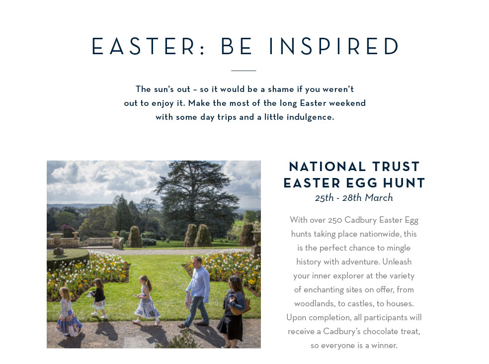 National Trust Easter Egg Hunt: 25th - 28th March