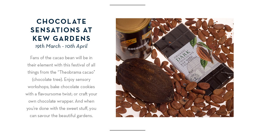 Chocolate Sensations at Kew Gardens: 19th March - 10th April