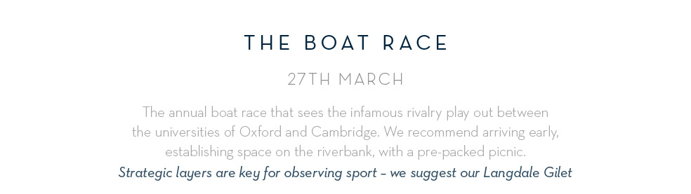 The Boat Race - 27th March