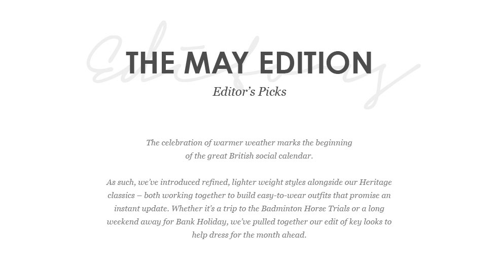 The May Edition - Editors Picks