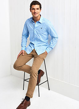 Slim Fit Chinos in Tan