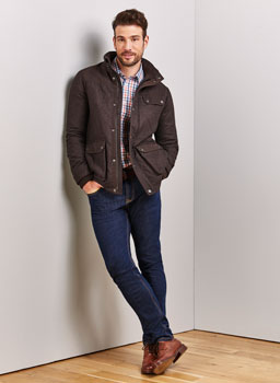 Thursley Quilted Jacket in French Roast
