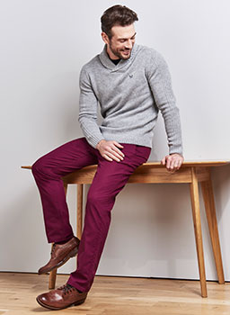 Pennington Slim Fit Chino Boysenberry