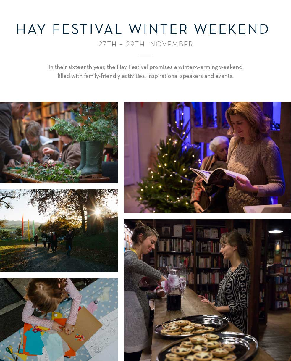 Hay Festival Winter Weekend 27th-29th November