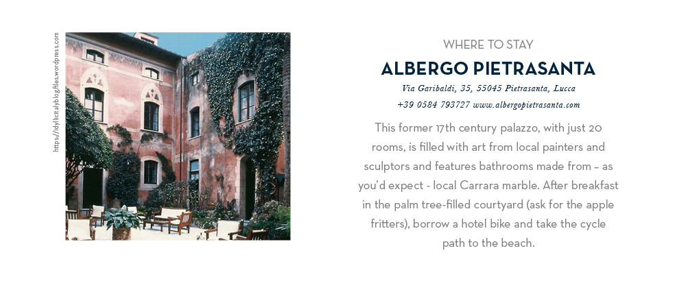 Where to stay - Albergo Pietrasanta