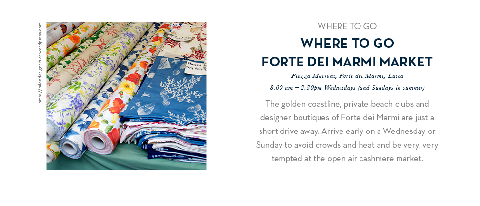 Where To Go - Forte Dei Marmi Market