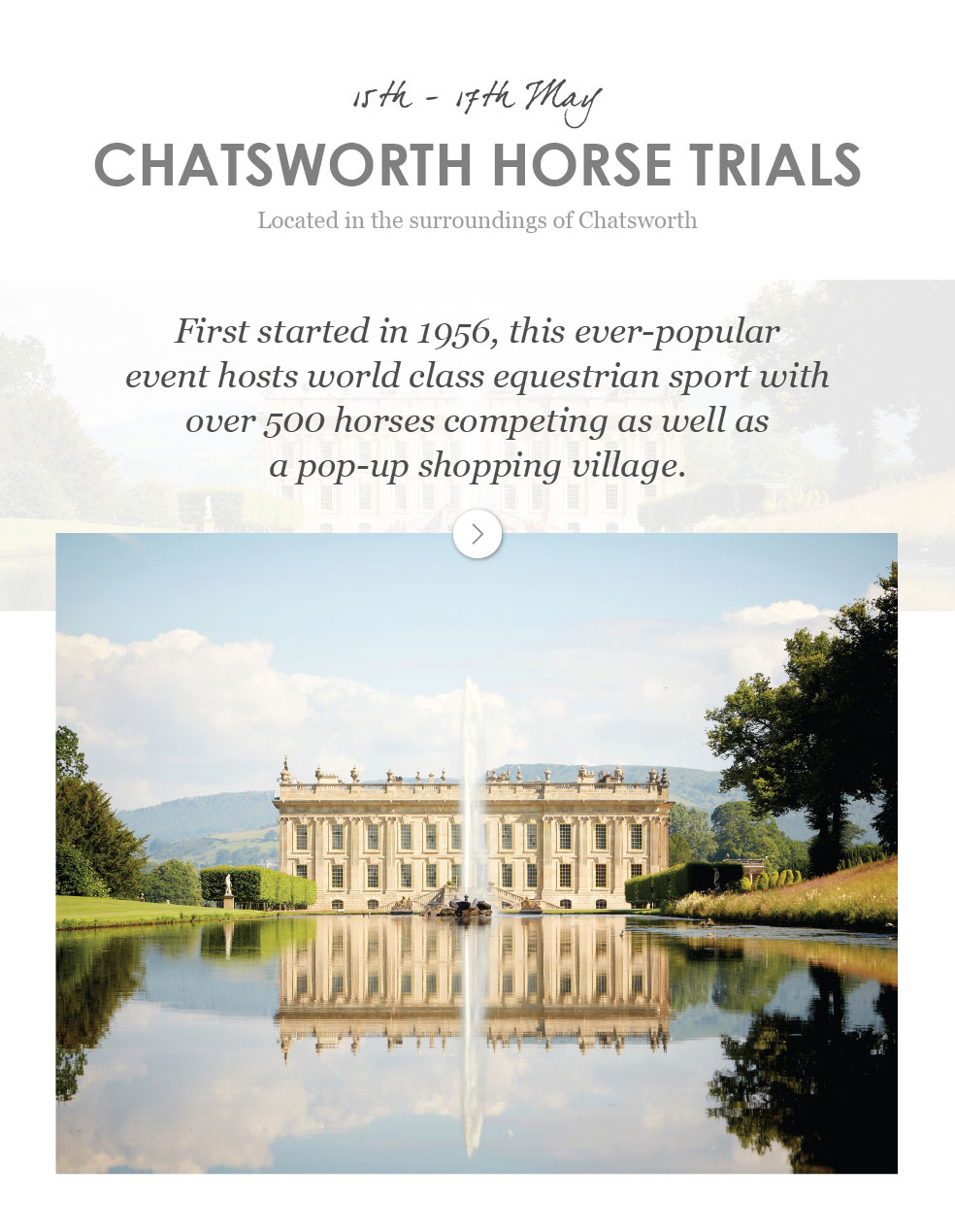 Chatsworth Horse Trials - 15th - 17th May