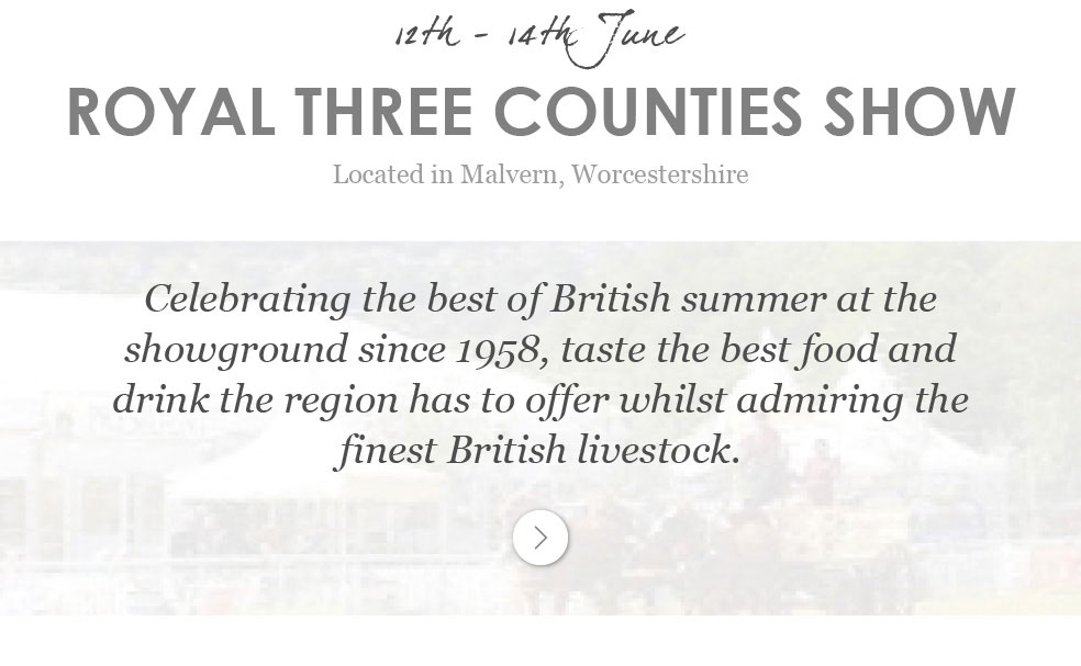 Royal Three Counties Show - 12th - 14th June