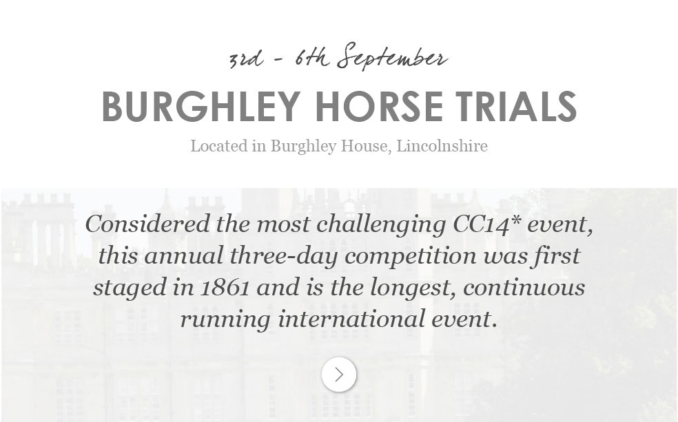 Burghley Horse Trials - 3rd - 6th September