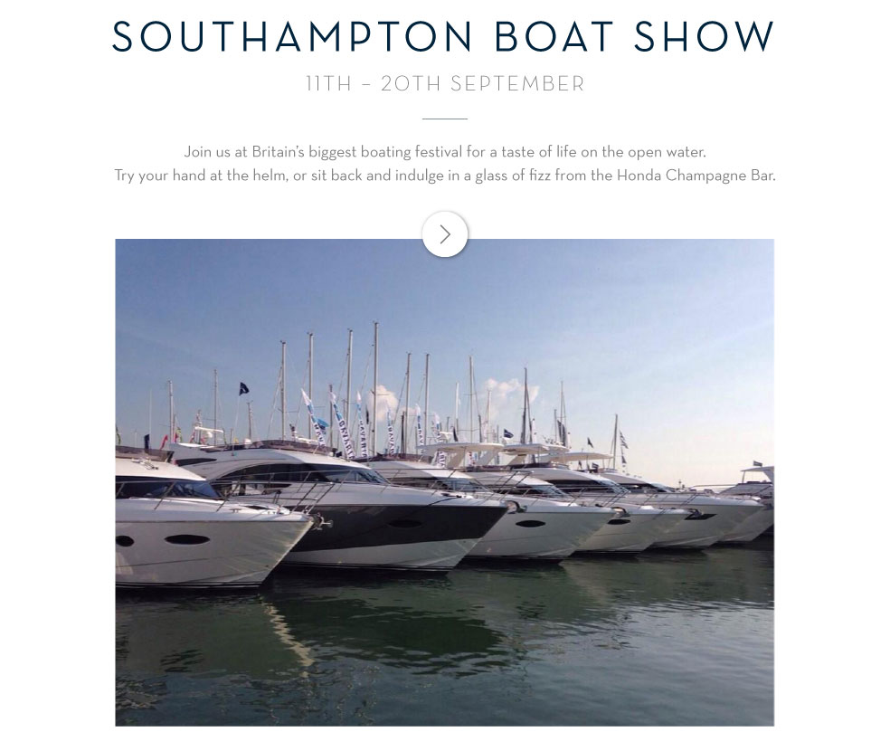 Southampton Boat Show 11th - 20th September
