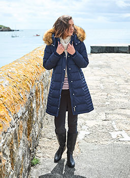 Long Down Coat NAVY
