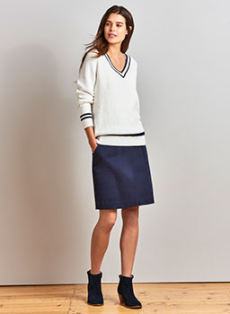 Carron Jumper in White Linen
