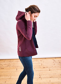 Crew Club Womens Abersoch Hoody dark boysenberry