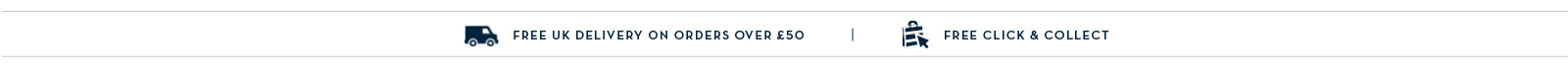 Free Delivery when you spend £50. Free Click & Collect
