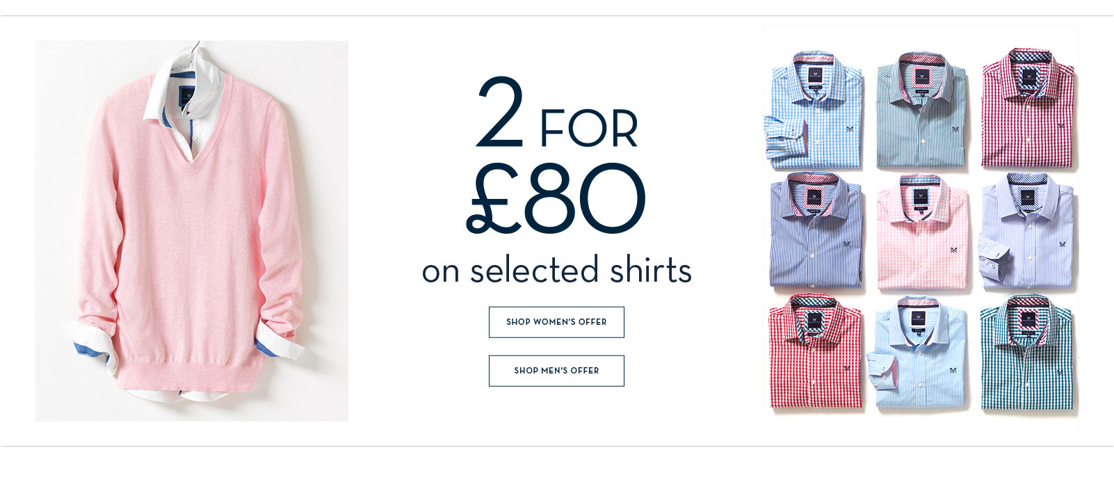 2 for £80 Selected Shirts