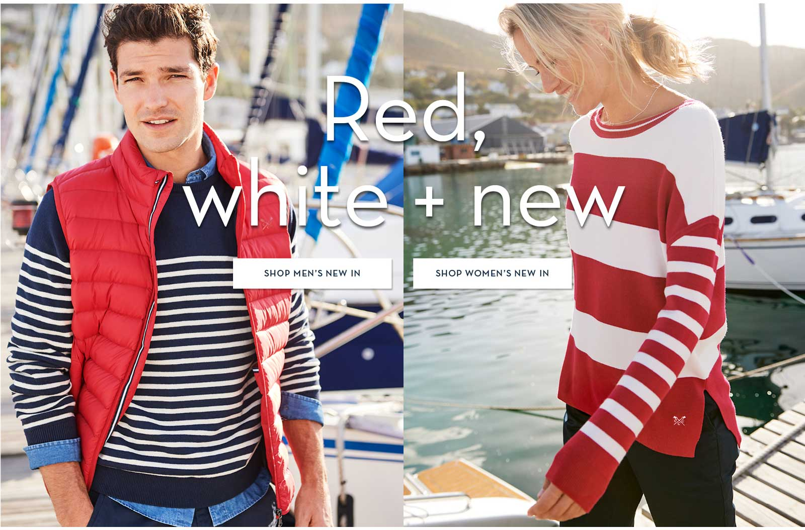 Red, White + New. Shop New In.
