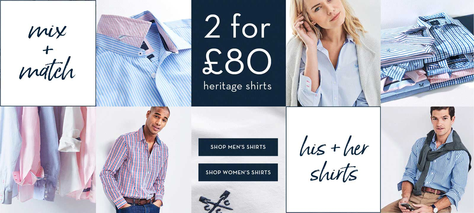 2 for £80 Heritage Shirts