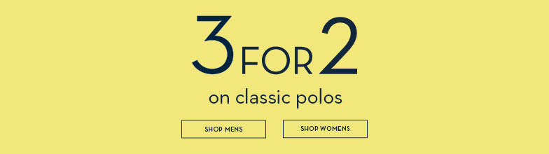 3 FOR 2 CLASSIC POLOS