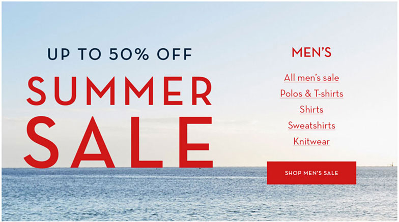Shop Men's Summer Sale