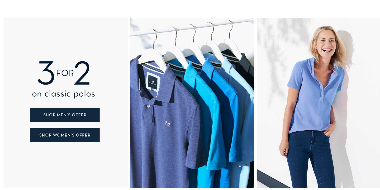 Shop Men's and Women's 3 for 2 on Classic Polos