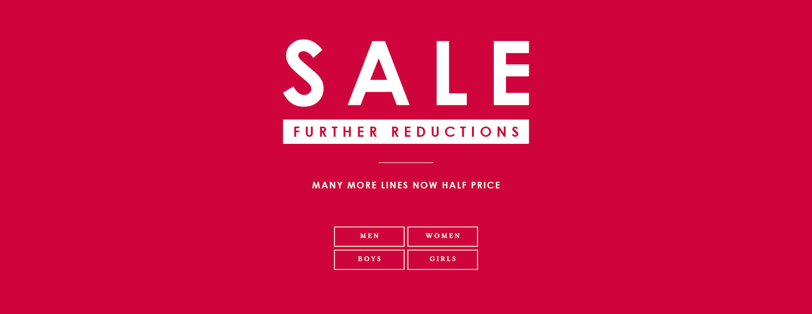 Up To Half Price Sale - More Lines Added