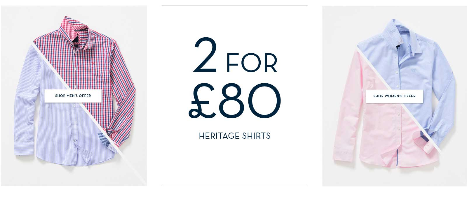 2 for £80 Shirts