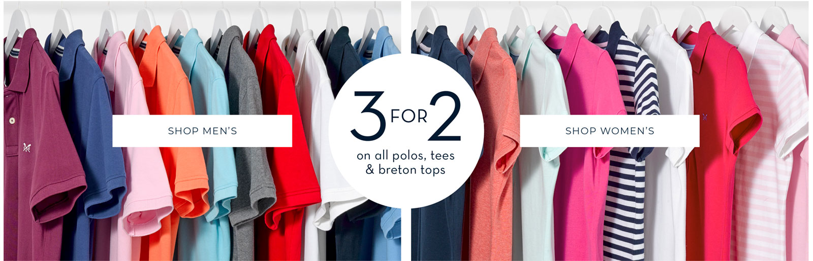 Shop 3 for 2 on Classic Polos