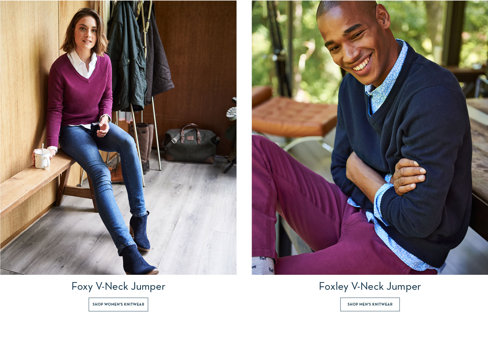 Womens Foxy and Men's Foxley Jumpers