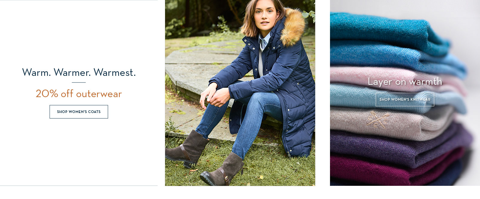 20% off coats and jackets