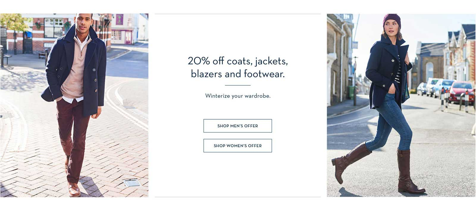 20% Off Coats, Jackets, Shoes & Boots