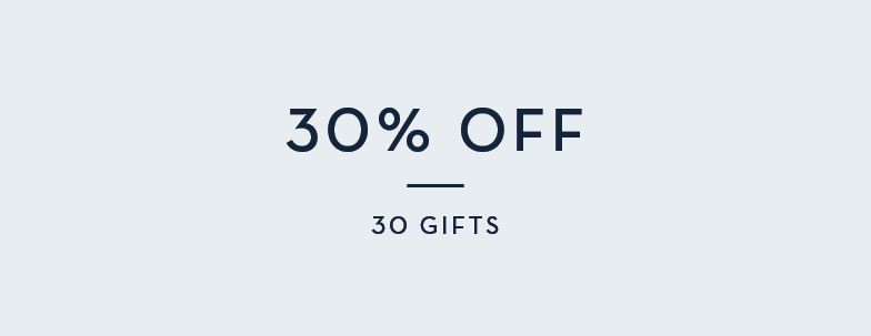 30% Off 30 Gifts
