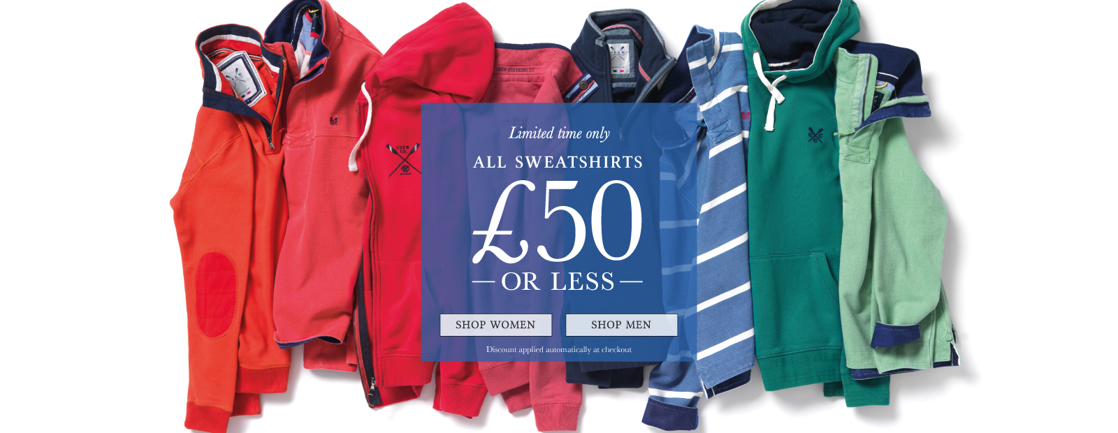 Limited time offer - Sweats £50 or less