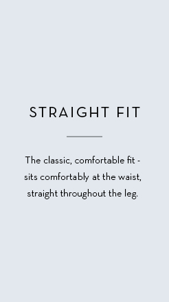 Men's straight fit trousers