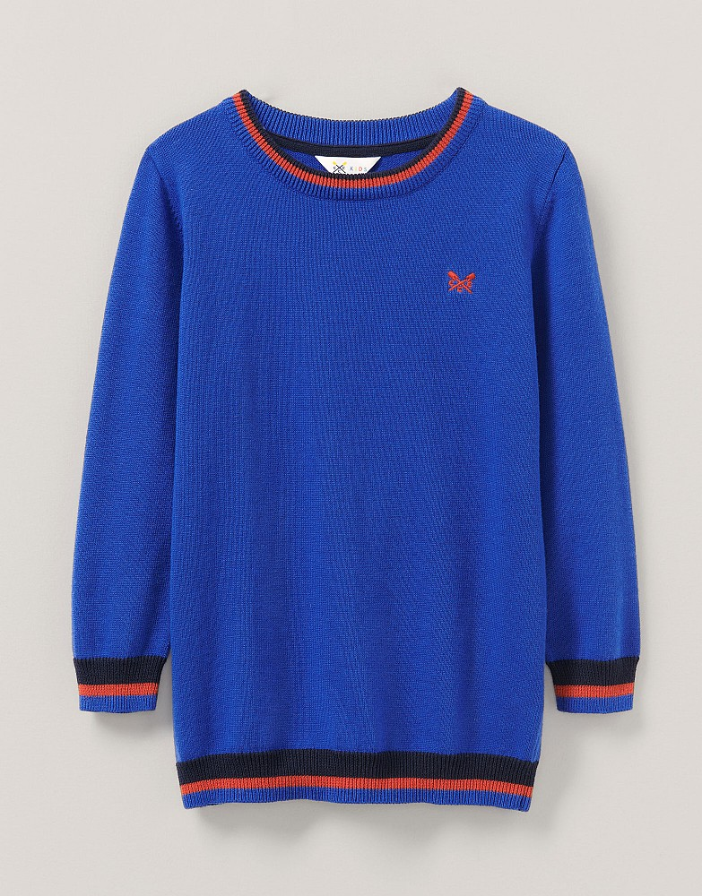 Foxley Crew Neck Tipped Jumper