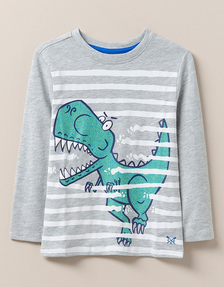 Crew Long Sleeve Dino Break Out Stripe T-Shirt