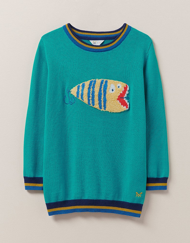 Fish Fly Crew Neck Jumper