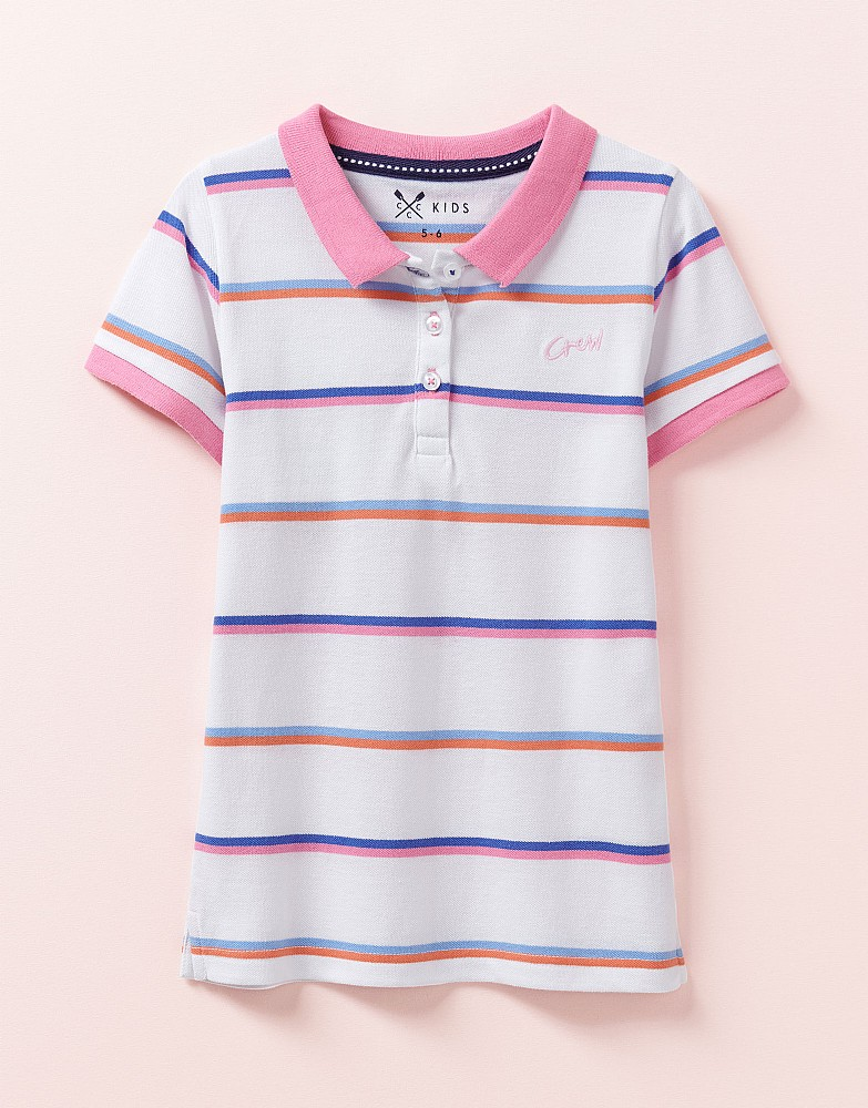 Classic Fit Stripe Pique Polo Shirt