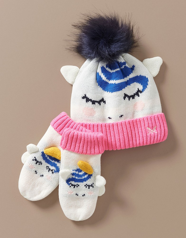 Unicorn Hat and Gloves Set