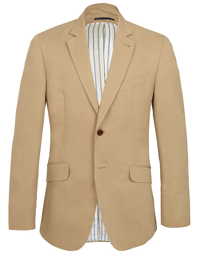 Men's Ashton Summer Blazer in Taupe from Crew Clothing