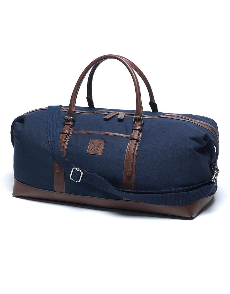 Men s Kerridge Holdall in Navy Chocolate from Crew Clothing 724534e70
