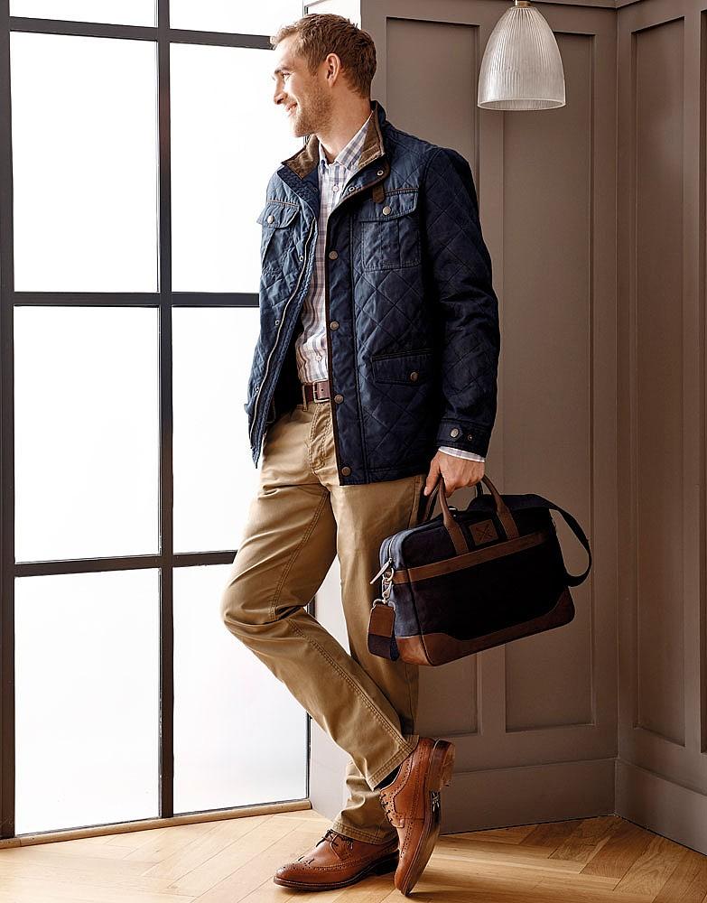 Men S Kerridge Work Bag In Navy Chocolate From Crew Clothing