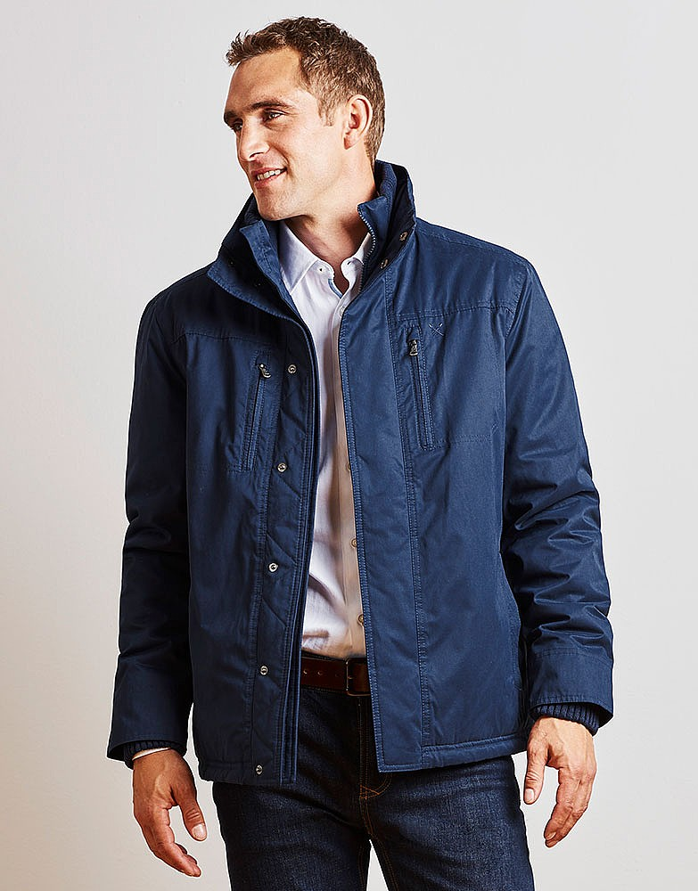 2cd89d72223 Men s Bayards Jacket in Navy from Crew Clothing