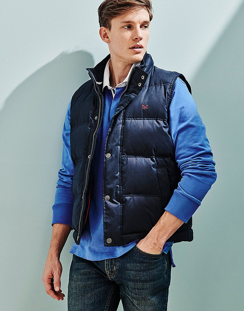 Men S Ridley Gilet In Navy From Crew Clothing Company